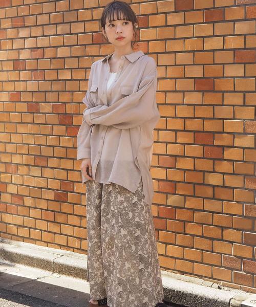 【tiptop+pocket】シアーBIGシャツ