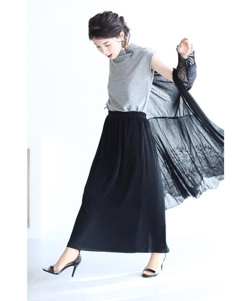 [FRENCH PAVE] ストレスゼロの伸び~るスカート