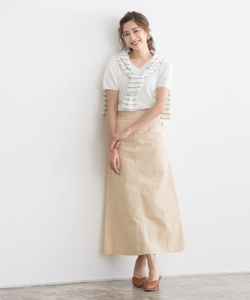 チノロングタイトスカート