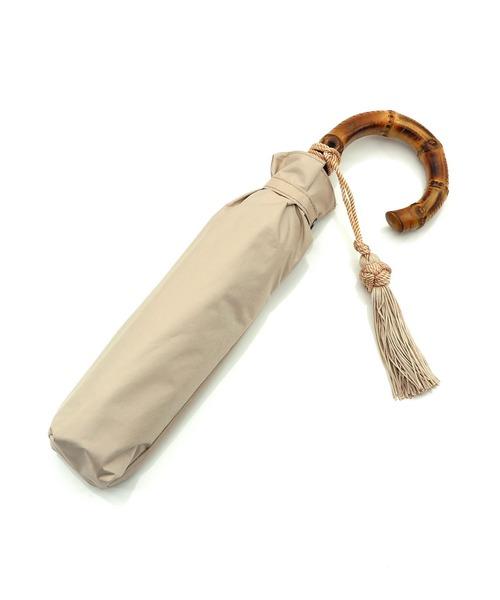[utatane] 折りたたみ日傘 完全遮光 竹ハンドル