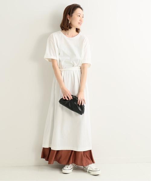 [IENA] 【MIRKO /ミルコ】デザインカットワンピース【洗濯機使用可】◆