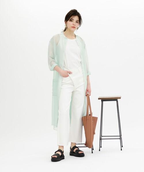 [CAST:] 【TVドラマ着用】【WEB限定】シースルーシャツドレス