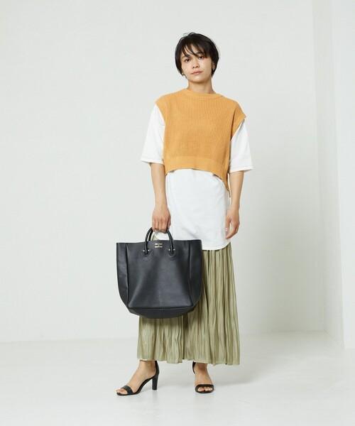 シャイニープリーツスカート(ニュアンスカラー)