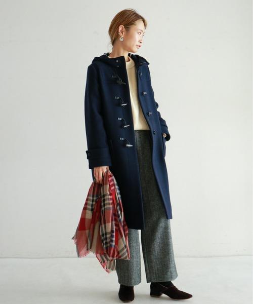 NOMBRE IMPAIR] 【Fabric in Italy】SERENAツイード ダッフルコート