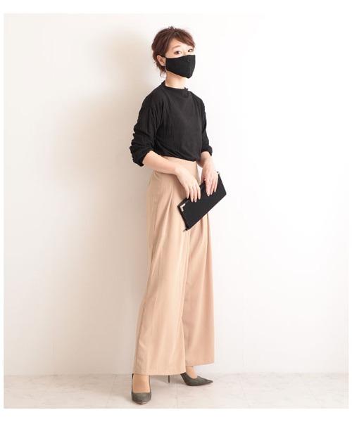 [Sawa a la mode] エレガントレースの黒マスク