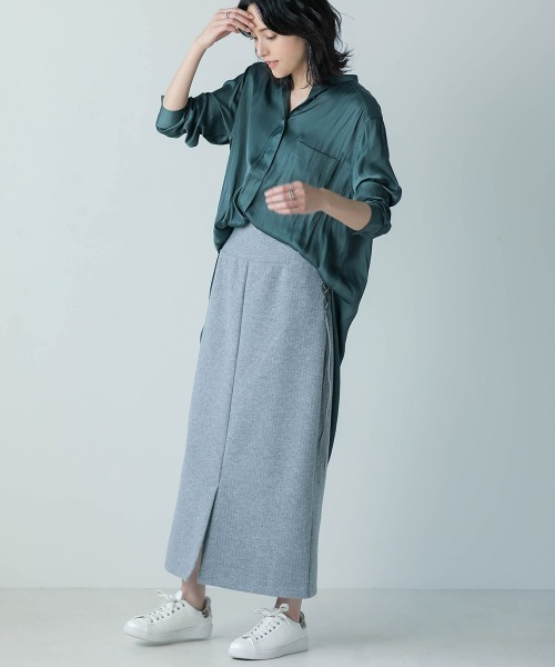 [Bou Jeloud / Bab] Iラインリブスカート