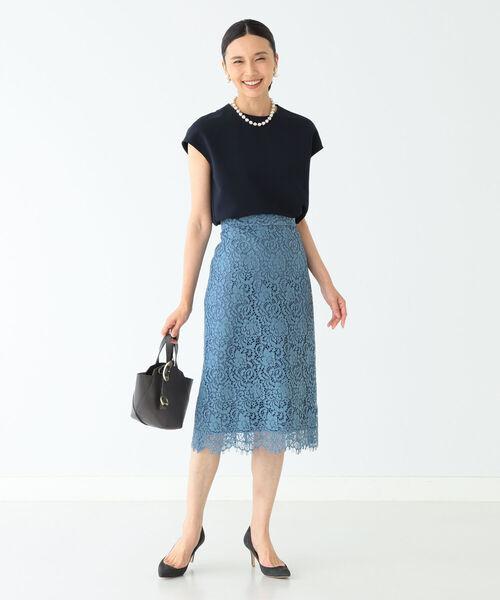 [BEAMS WOMEN] Demi-Luxe BEAMS / オールレース タイトスカート 21FO