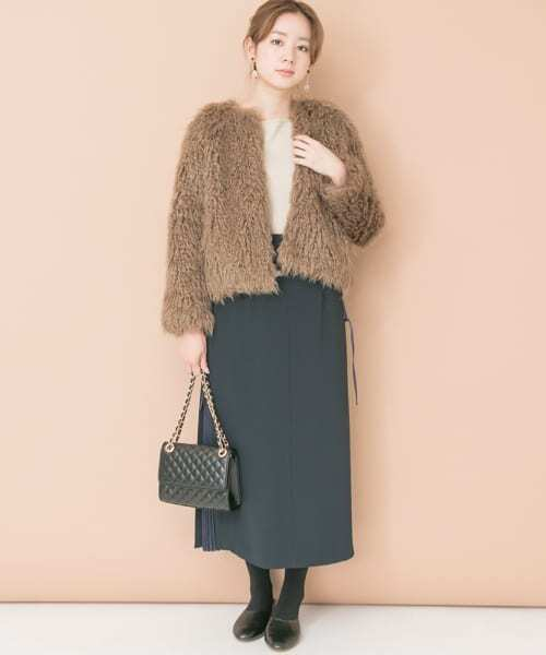 [URBAN RESEARCH OUTLET] フェイクファーコート∴