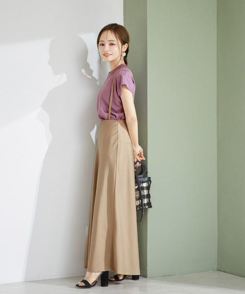 [titivate]ストラップ付きサテンナロースカート