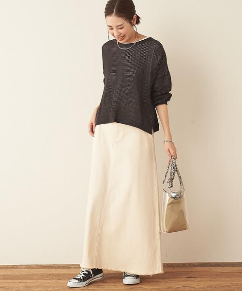 [CIAOPANIC TYPY] むら染フェードAラインロングスカート