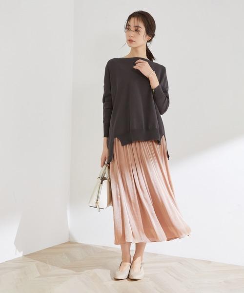 グロッシー楊柳ギャザースカート