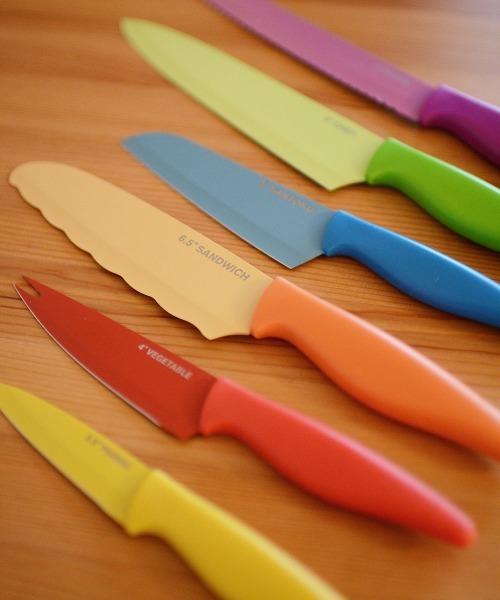VIDA/ノンスティック コーティング ナイフ カラー6個セット