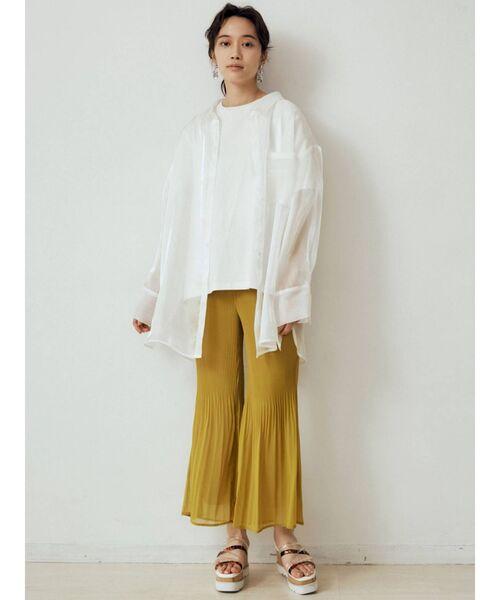 【MURUA】シャイニーシアーシャツ