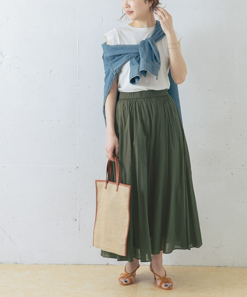 [URBAN RESEARCH ROSSO WOMEN] 【WEB限定】ギャザーロングスカート