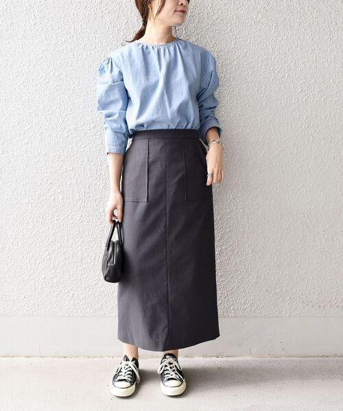 [SHIPS for women] ハイストレッチタイトスカート