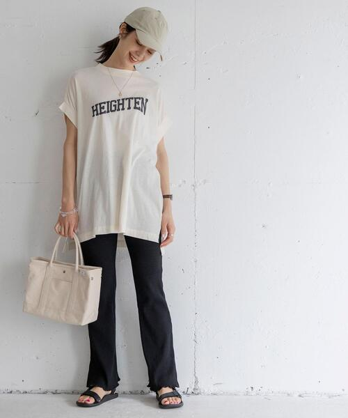 ルージーロゴ&フォトプリントTシャツ