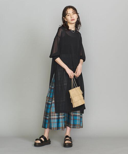 [BEAUTY&YOUTH UNITED ARROWS] BY シアーTシャツワンピース -ウォッシャブル-