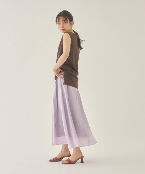 EM ラップライク カラーフレア スカート