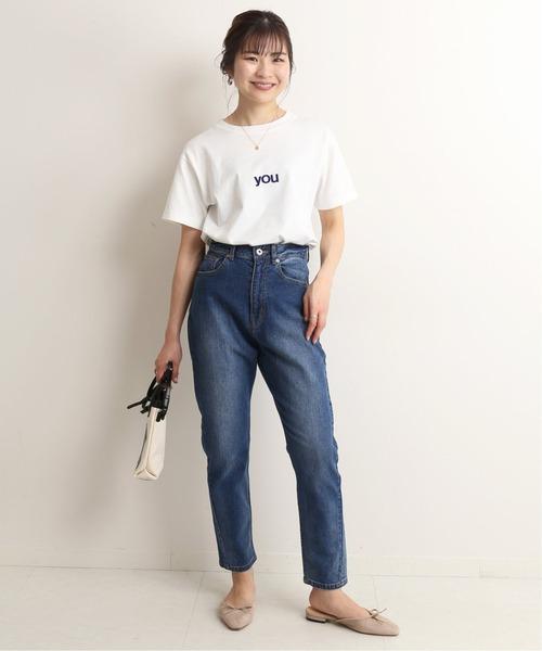 [IENA] LE DENIM スリムストレートデニムパンツ【洗濯機使用可能】