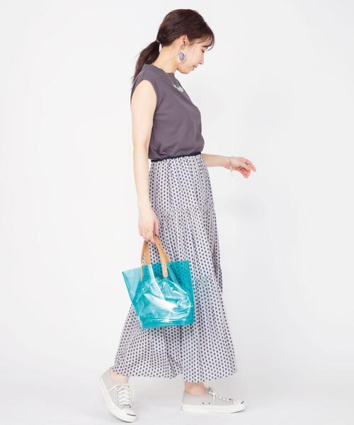 [ADMIX-Japan/JETSET SOLO PLUS] プロヴァンスプリントティアードスカート