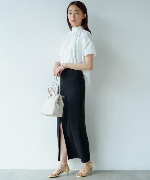 [Loungedress] カットタイトスカート