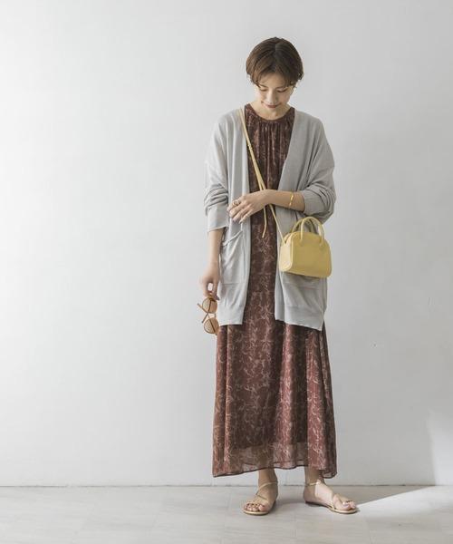 [URBAN RESEARCH] UV加工ミディ丈カーディガン