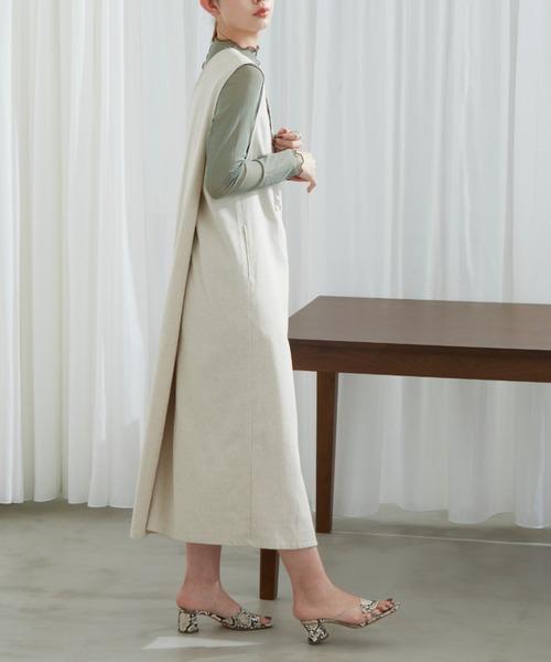 [YARD PLUS/AUNT MARIE'S] リネンダブルジャンスカ【低身長向けSサイズ有】