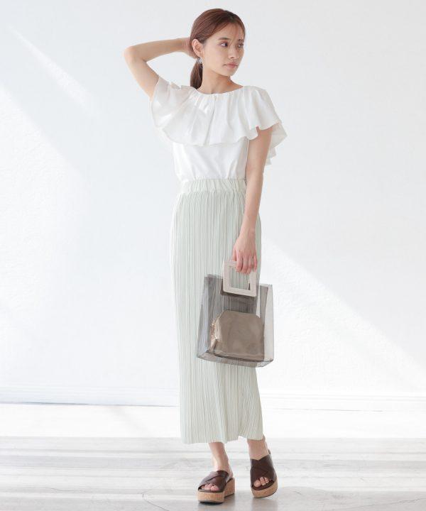 【mysty woman】ナロープリーツスカート