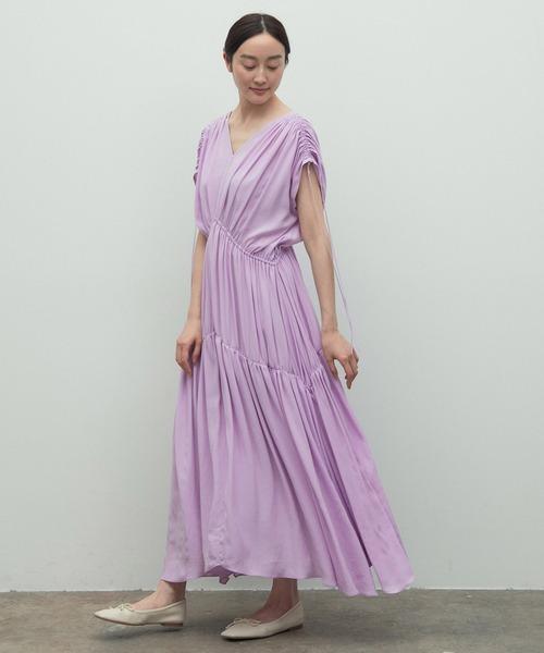 [ROPE'] 【ラリーニュロペ】汀(ミギワ)ドレス <日本製><洗える><マルチWAY>