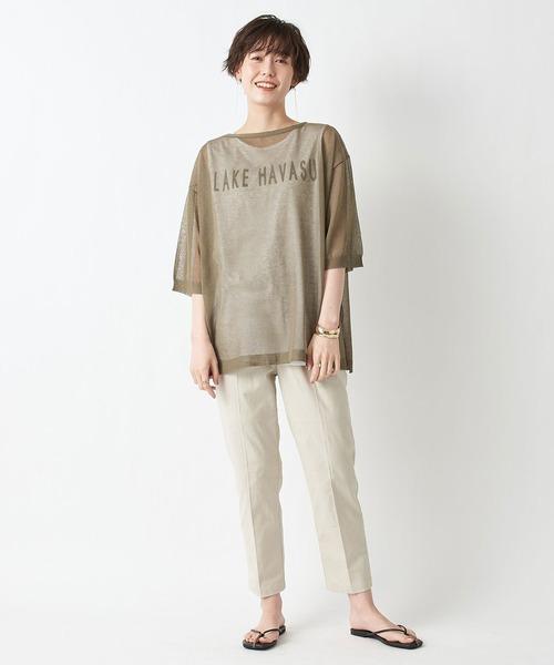 シースルーロゴTシャツ