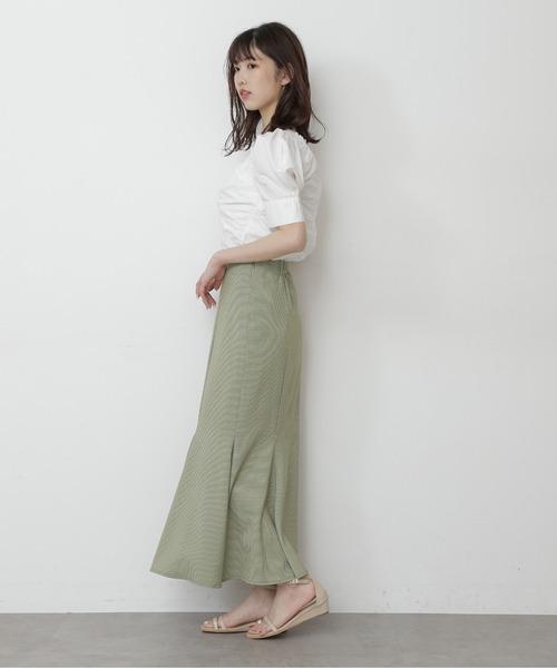 【FREE'S MART】カラーチェックマーメイドスカート
