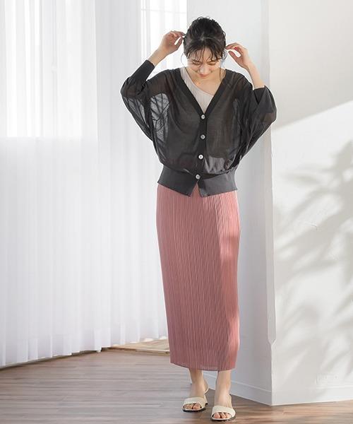 スリムプリーツタイトスカート