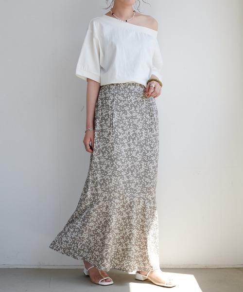 Discoat] 花柄マーメイドスカート