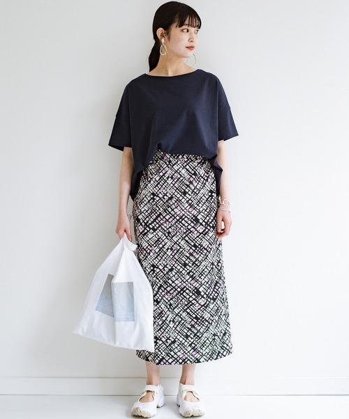 [haco!] 京都の浴衣屋さんと作った浴衣生地のセミタイトスカート