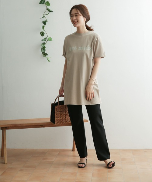 【WEB限定】ロゴプリントチュニックTシャツ