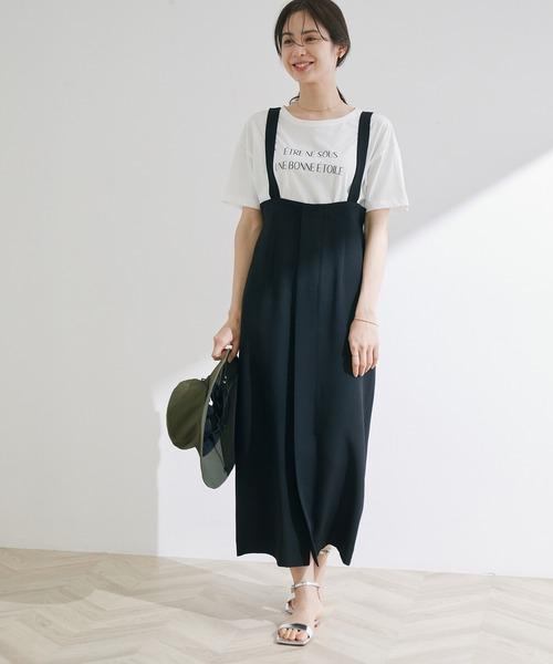 [ROPE'] サスペンダーハイウエストタイトスカート