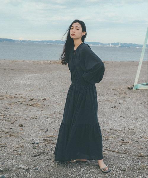[Spick & Span] 【YURIE A.× Spick & Span】2WAY ギャザードレス◆