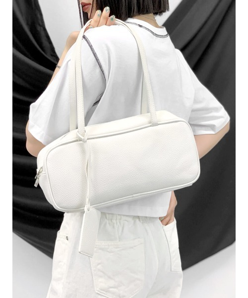 [LVEU.] Eco leather mini boston bag / エコレザーミニボストンバッグ