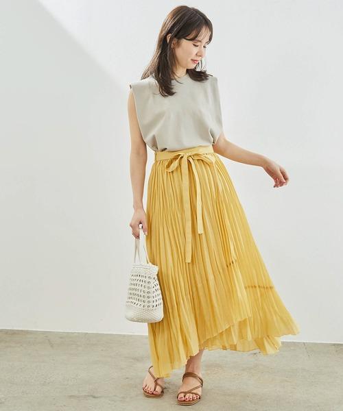 [ROPE' PICNIC] 【撥水加工】シアープリーツスカート