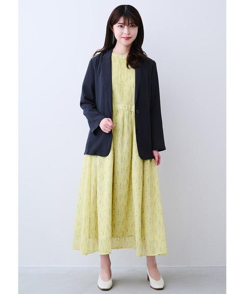 [FELISSIMO] IEDIT 接触冷感でサラリと着られる 軽やかジャケット