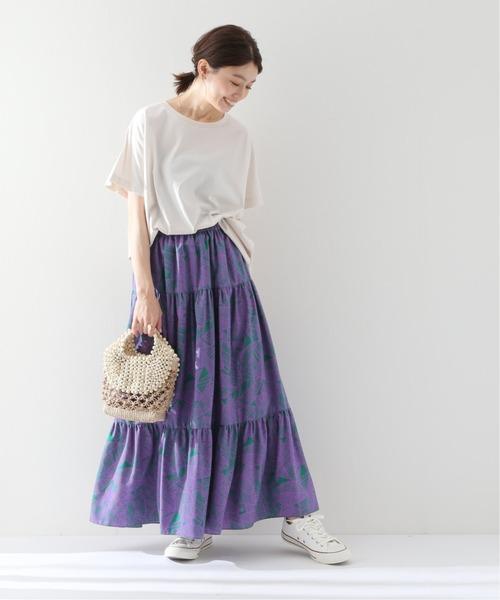 [IENA] 【TRADITIONAL WEATHERWEAR】プリントスカート