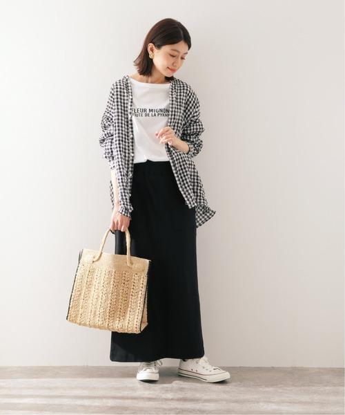 [IENA] マルチパターンオーバーシャツ【手洗い可能】