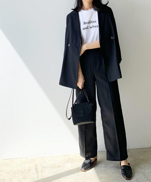 [Lian] マーブリングリネンライクジャケット
