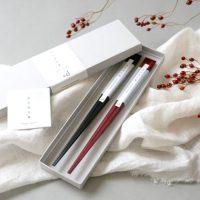 高級感ある豊かな質感の「木の浮き箸」。箸置きがいらないデザイン!