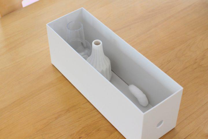 小さめ花器の保管に「ファイルボックス・1/2」2