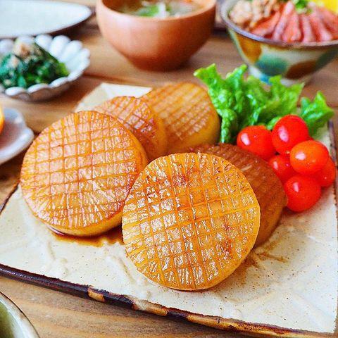 ボリューム副菜!わかめご飯に大根ステーキ