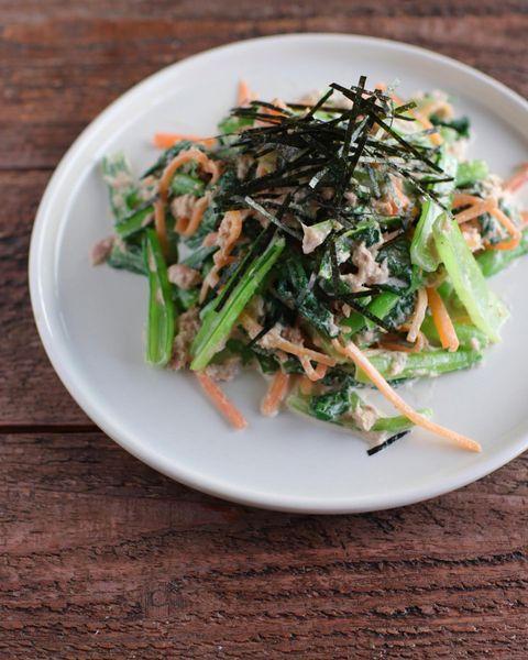 小松菜とツナのごまマヨ和え
