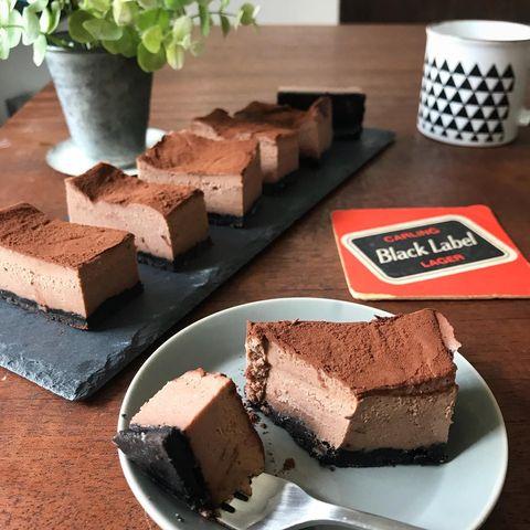 レンジ料理♪濃厚生チョコチーズケーキレシピ