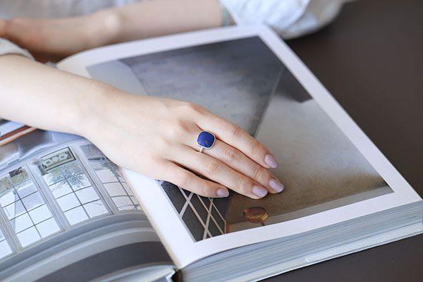 ラピスラズリ Stone Ring2