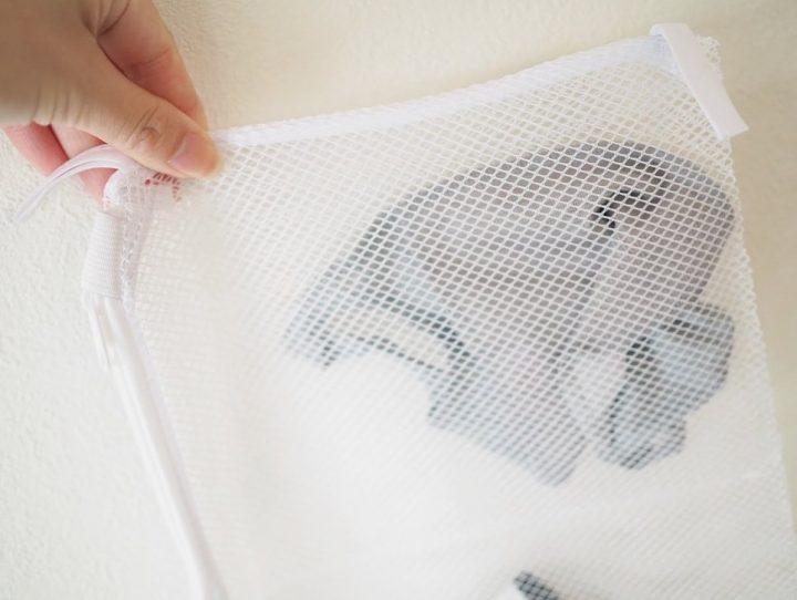 ・キャンドゥ「洗って干せるマスク用5連洗濯ネット」100円(税抜)3